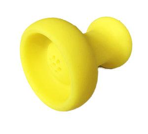 Siliconen tabakskoppen waterpijp rubber kop geel
