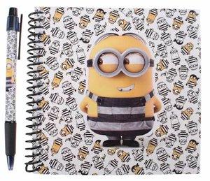 Minions Notitieblok Met Pen Wit 14,5 Cm