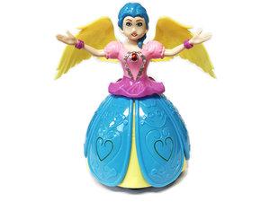 Dancing Prinsesje Angel Girl met muziek en 3D-lightjes -14CM
