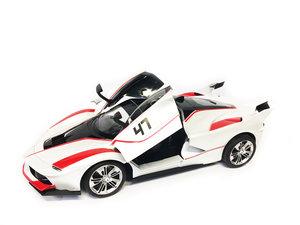 Rc Auto - Race Car - Sportwagen 42.5CM | Functie deuren Open/Dicht -Z-Car wit