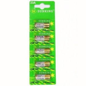 SUNKING 23A 12V ALKALINE batterijen 5 STUKS