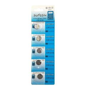 Suncom CR1216 Knoopcel Batterijen - 5 STUKS 5034LC, L40, Univer Cel 564, DL1216, ECR1216, BR1216, 280-208, DL1216B, BR1216-1W, CR1216-1W, KCR1216, LM1216