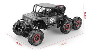 RC Rock Defender Off Road auto- 6x6 wheel drive - Bergbeklimmer -2.4Ghz | 1:12