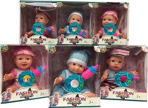 Lovely Baby poppen met geluidjes - 12.5CM - 6 in pack