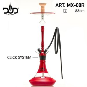 DUD Shisha Aluminium glass Red - 4 Hose - 83CM -  2.0 waterpijp