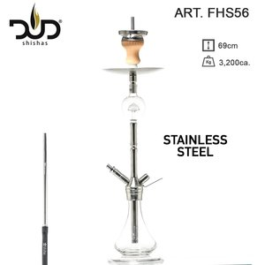 DUD Shisha The Colossus Crystal 69CM - Transparant (Stainless Steel) waterpijp