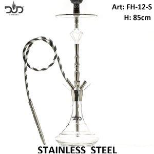 Dud Shisha Crystal Mushroom Stainless Steel 85cm - 4 hose - Dud waterpijpen