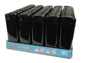 Electronic lighters Flame club - 50 stuks elektronische klik aanstekers