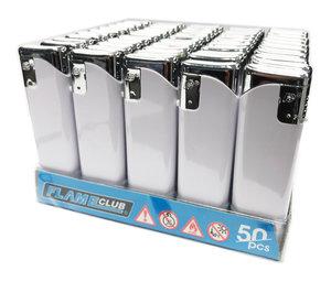 Klik aanstekers 50 stuks in tray navulbaar- Flame club lighters