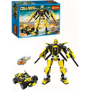 COGO Coll-SONG - Transformer robot car 2in1 bouwpakket - 190 stuks bouwsteentjes