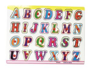Inleg puzzel - houten puzzelbord - Vormenpuzzel ABC