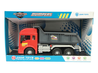 Vrachtwagen met laadbak/kiepbak - 4 soorten geluiden en lichtjes - 33CM