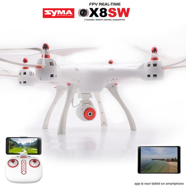 Syma X8SW Drone 2.4GHZ- FPV live HD camera voor Android & IOS - BLACK FRIDAY DEAL!