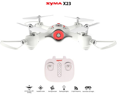 Syma X23 Drone  -one key take off/landing functie - Hover mode - drone wit - Black friday