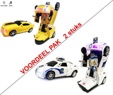 Robot Car 2 in 1 robot en auto transformeer speelgoed- 2stuks! Black friday