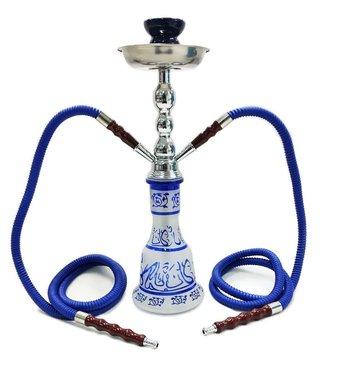 Waterpijp shisha Sahara Arabic Hookah 2 Slang -blauw