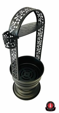 Amy Deluxe - waterpijp kolendrager - 35CM RVS kolenhouder