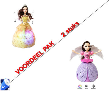 Little Princess Goud + Dancing Angel Girl Paars | incl. Batterij
