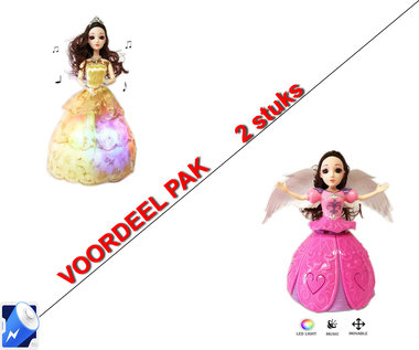 Little Princess Goud + Dancing Angel Girl roze| incl. Batterij