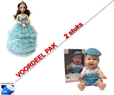 Little Dancing Princess - Dansende prinsesje met muziek en lichtjes + Mini Babypop (2pack)