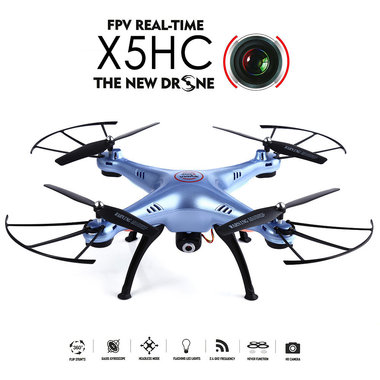 Syma x5HC drone/quadcopter met hd camera +altitude hover functie -blauw