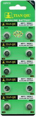 AG 11 / 362A batterijen 10 stuks in pak