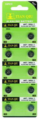AG 7 / 395A batterijen 10 stuks in pak