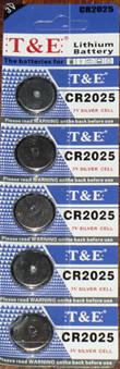 CR2025 3V Knoopcel batterijen |5 stuks in pak