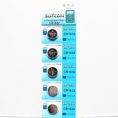 CR1632 Batterij - Knoopcel suncom - 5 STUKS