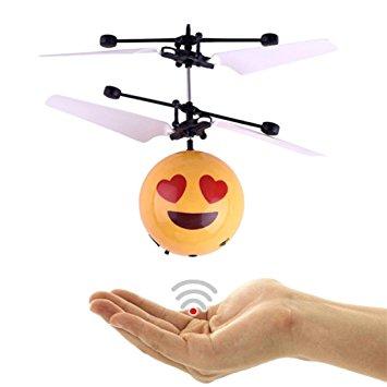 BS Flying Ball Emoji |zwevende bal met Led-infraroodsensor - Hand Vliegende Bal