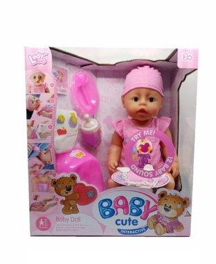 BS Interactieve babypop met accessoires 40 CM
