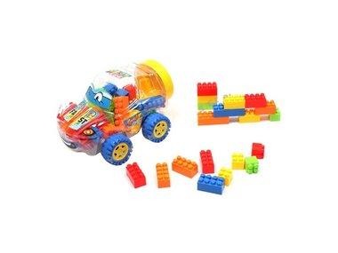 Bouwblokjes in een Gave Auto Box - Bouwsteentjes en auto 2in1 speelgoed (160 stuks)