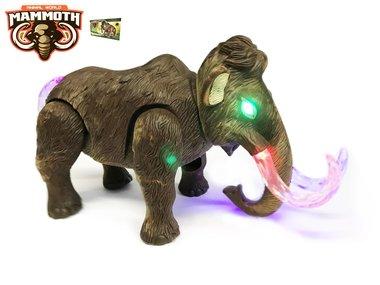 BS Dinosaurus speelgoed - mammoth - met licht en mammoet geluiden - 26CM