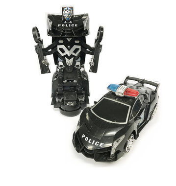 BS Politie Robot Car 2 in 1 robot en auto | Venom God of War