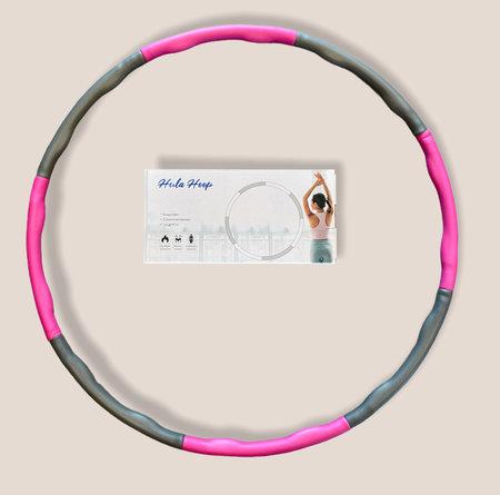 Fitness hoelahoep  met kliksysteem en massagefunctie Ø 88cm - 8delen - Fitness Hoop