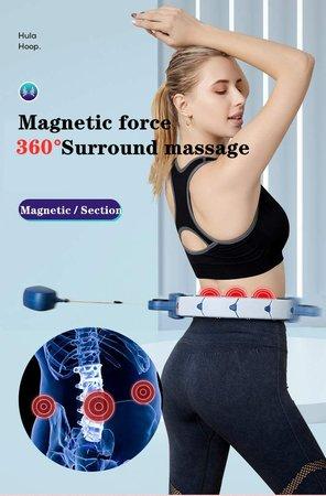Smart hoelahoep: de Fitness Hoelahoep met gewicht en exercise display  - Bodyhoop - verstelbaar