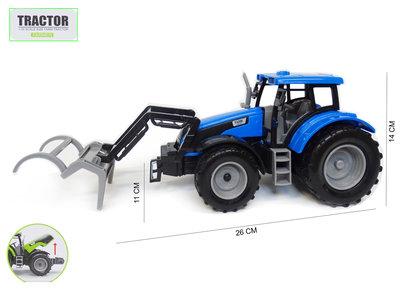 Tractor met voorlader - farmer 1:32 - werkvoertuig boerderij landbouw speelgoed- 1:32 26CM