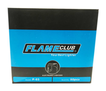 Electronic lighters Flame club - 50 stuks elektronische klik aanstekers