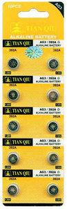 Knoopcel Batterijen AG 3 / 392A 10 stuks in pak