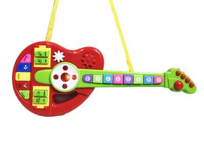 Cartoon muziek speelgoed gitaar - Orgel met instrument knopjes 44CM