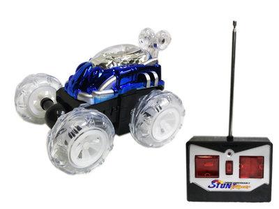 Dasher Rc Stunt auto radiografisch | Acrobatisch auto -blauw