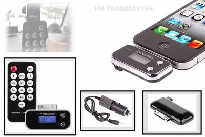 FM transmitter & remote control iphone 4S /iPod /ipad 3/Iphone 3 |auto fm transmitter |Music |Hands free talk
