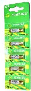 SUNKING 27A 12V ALKALINE batterijen 5 STUKS