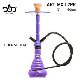 Dud Shisha Viper purple 60CM - 1slang + 2x Hose ingang - Waterpijp Aluminium