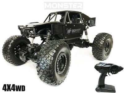 RC MONSTER CAR METAL ROCK CRAWLER 4WD auto 2.4GHZ BIG FOOT - schaal 1:8 (45CM)