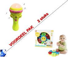 Sunflower Educatieve Speelgoed Drum voor peuters-Baby's + Tape Mic Speelgoed microfoon met diverse i